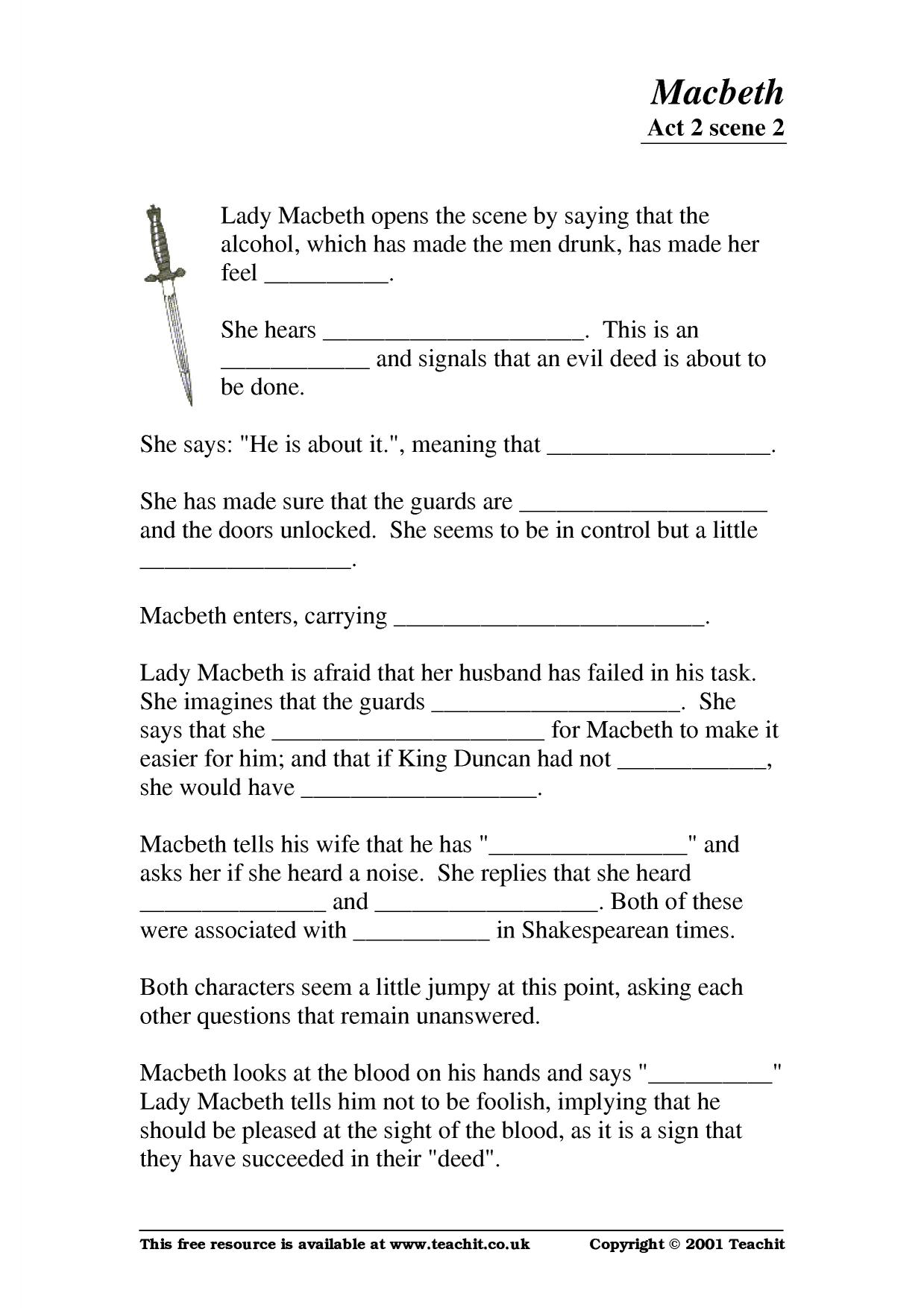 macbeth act 2 scene 2 essay
