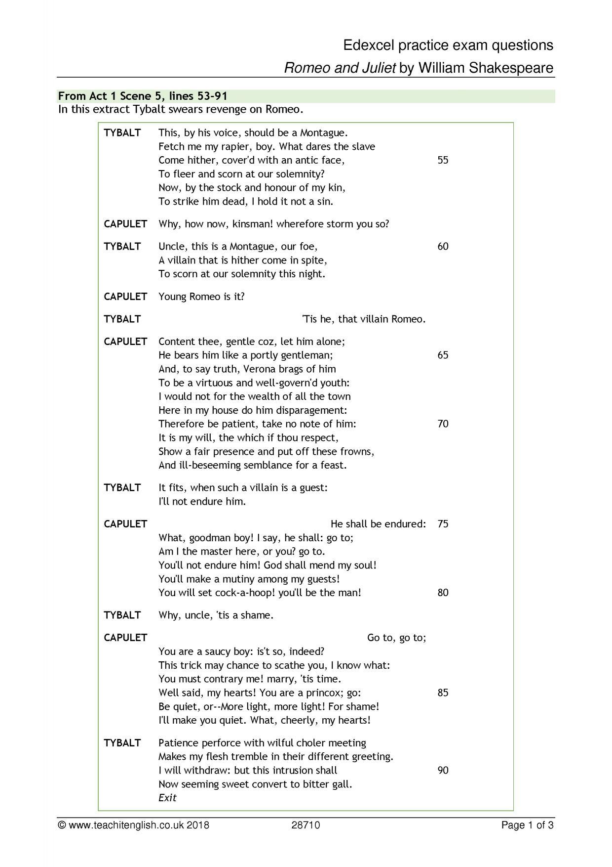 KS4 Plays | Romeo and Juliet | Teachit English