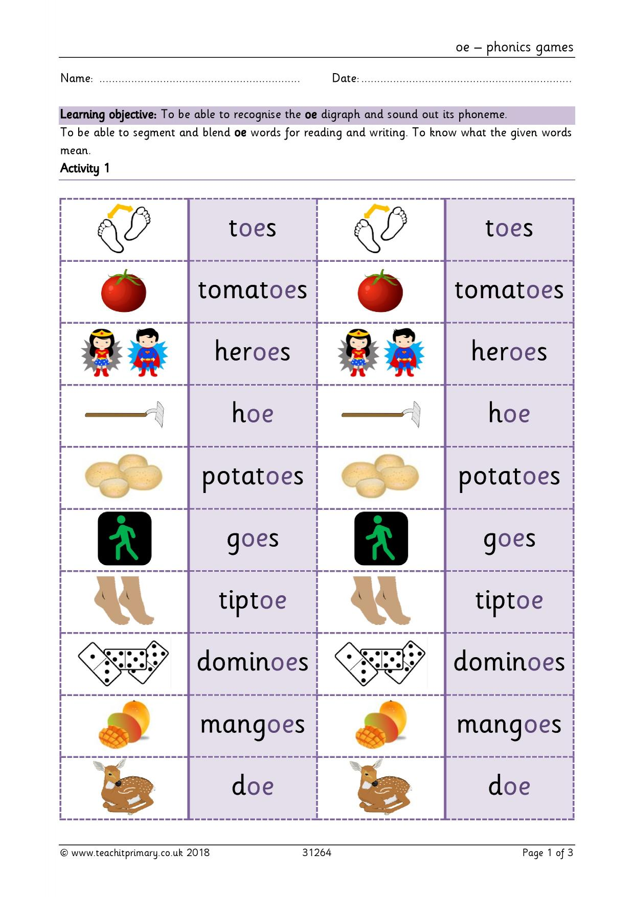 KS1 | Phonics | Teachit Primary
