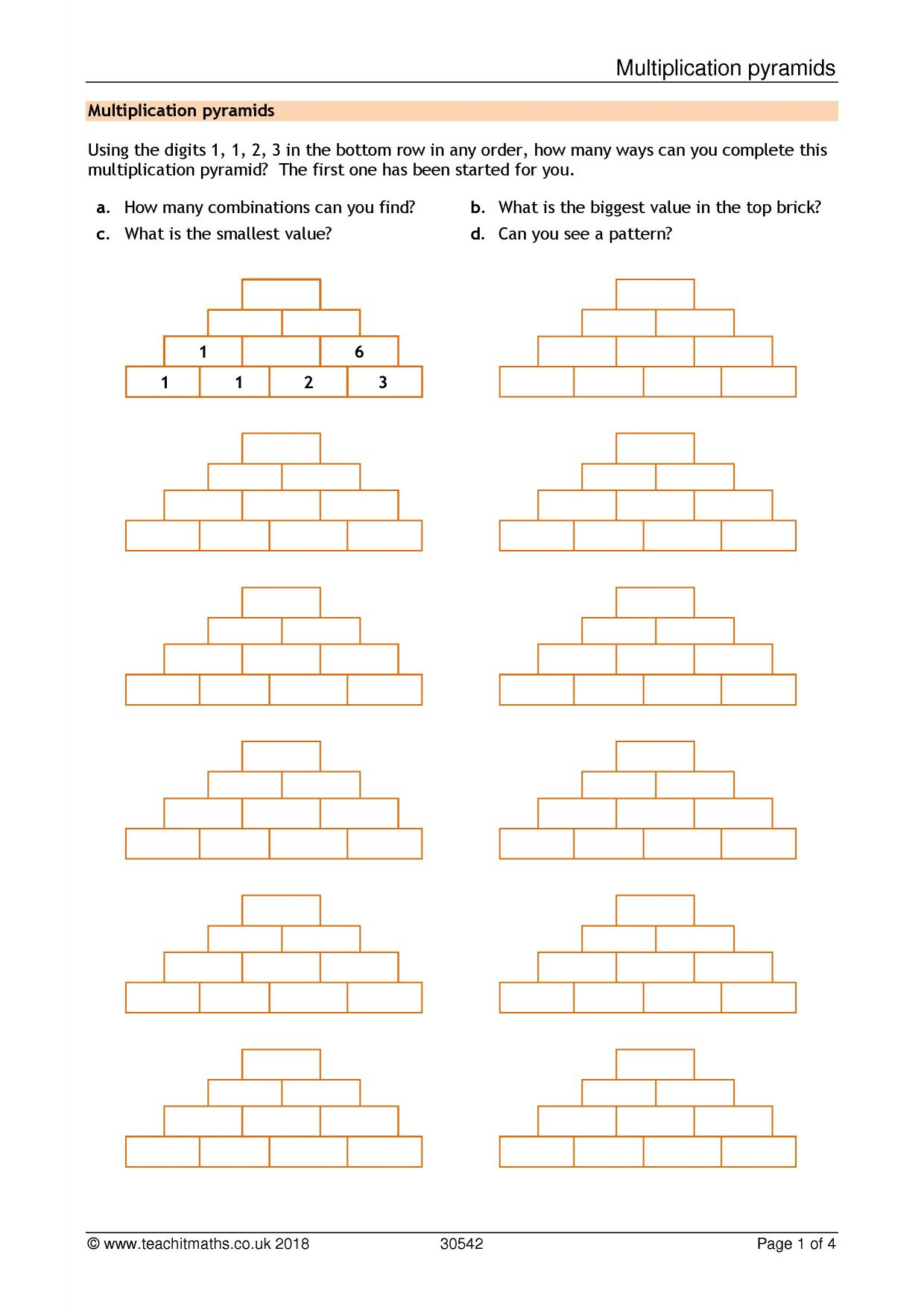 Ks3 Number Multiplication And Division Teachit Maths