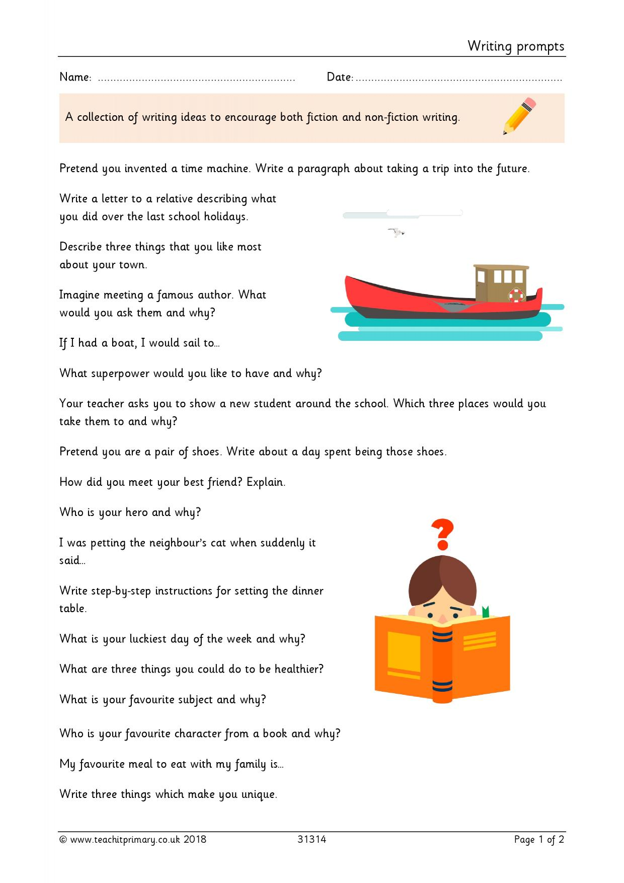 Writing Composition Resources For Eyfs And Ks1 Teachit Primary