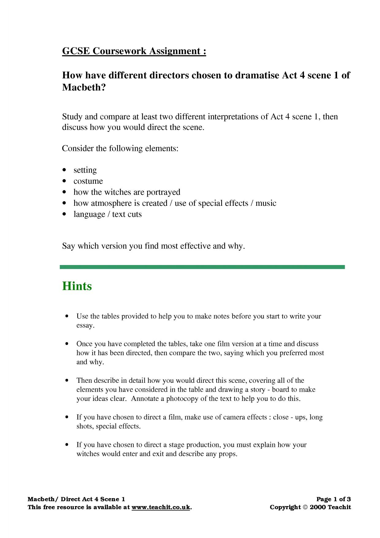 macbeth act 4 essay Essay sample on macbeth – act 4 scene 1: topics specifically for you order now at the time this play was written people really believed in witches they would have run away, however.