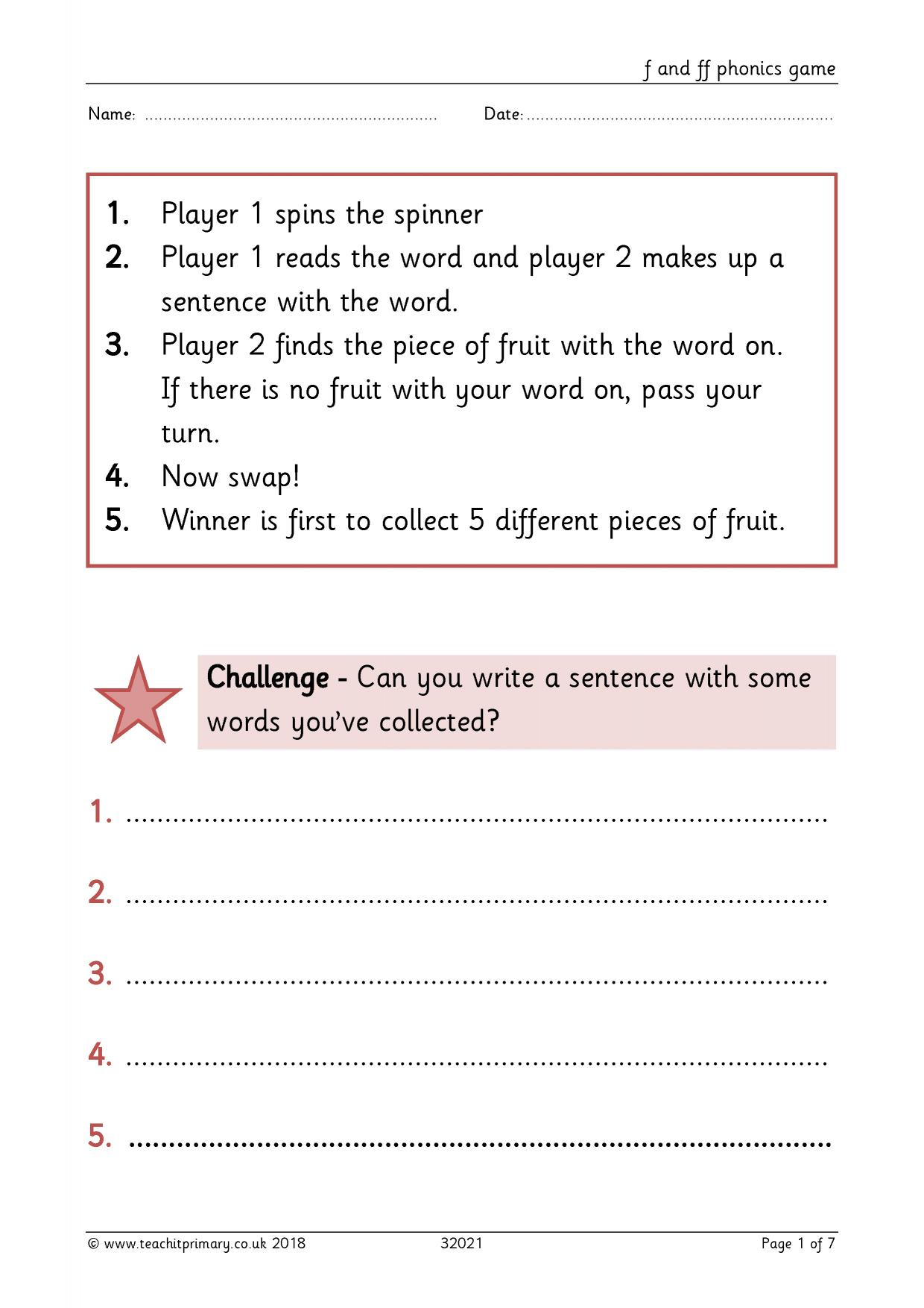 Phonics - search results - Teachit Primary