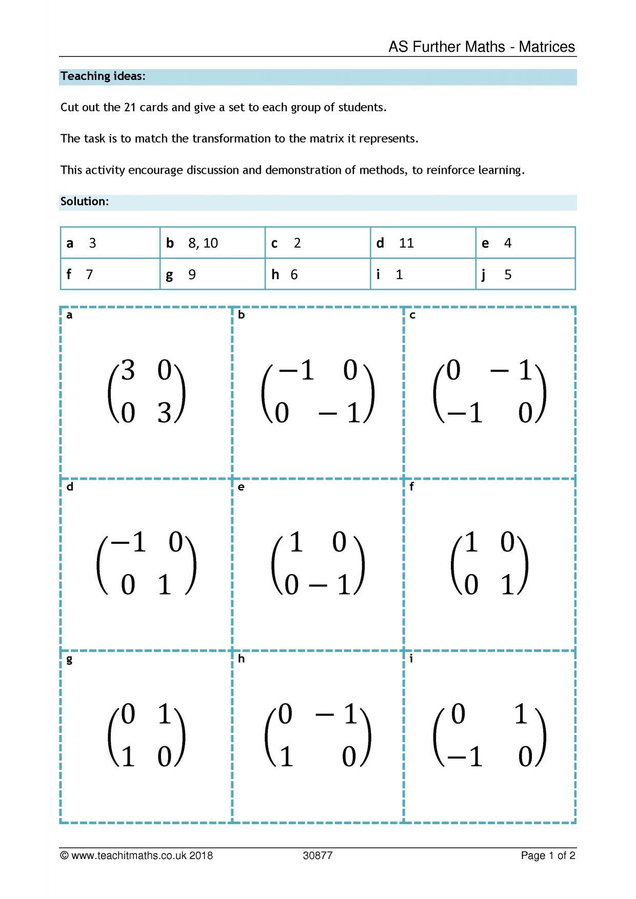 Transformations Enlargement Teachit Maths
