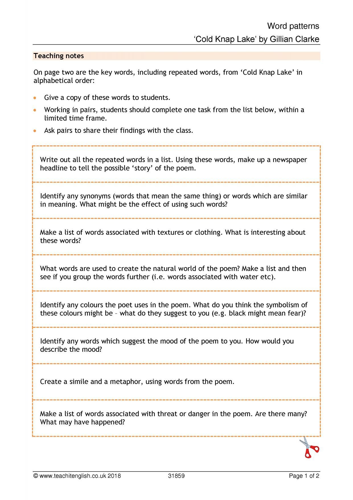 Latest Resources All Teachit English