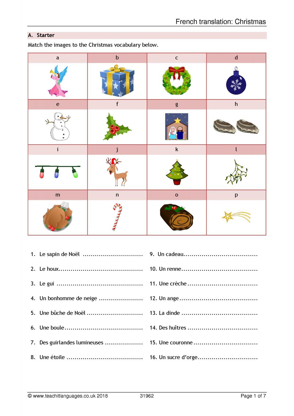 Christmas resources - Teachit Languages