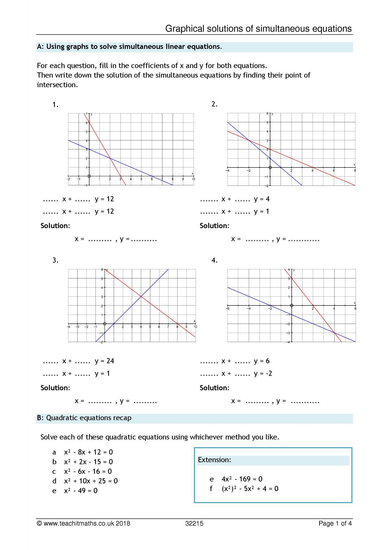 Quadratics – solving quadratics   Teachit Maths