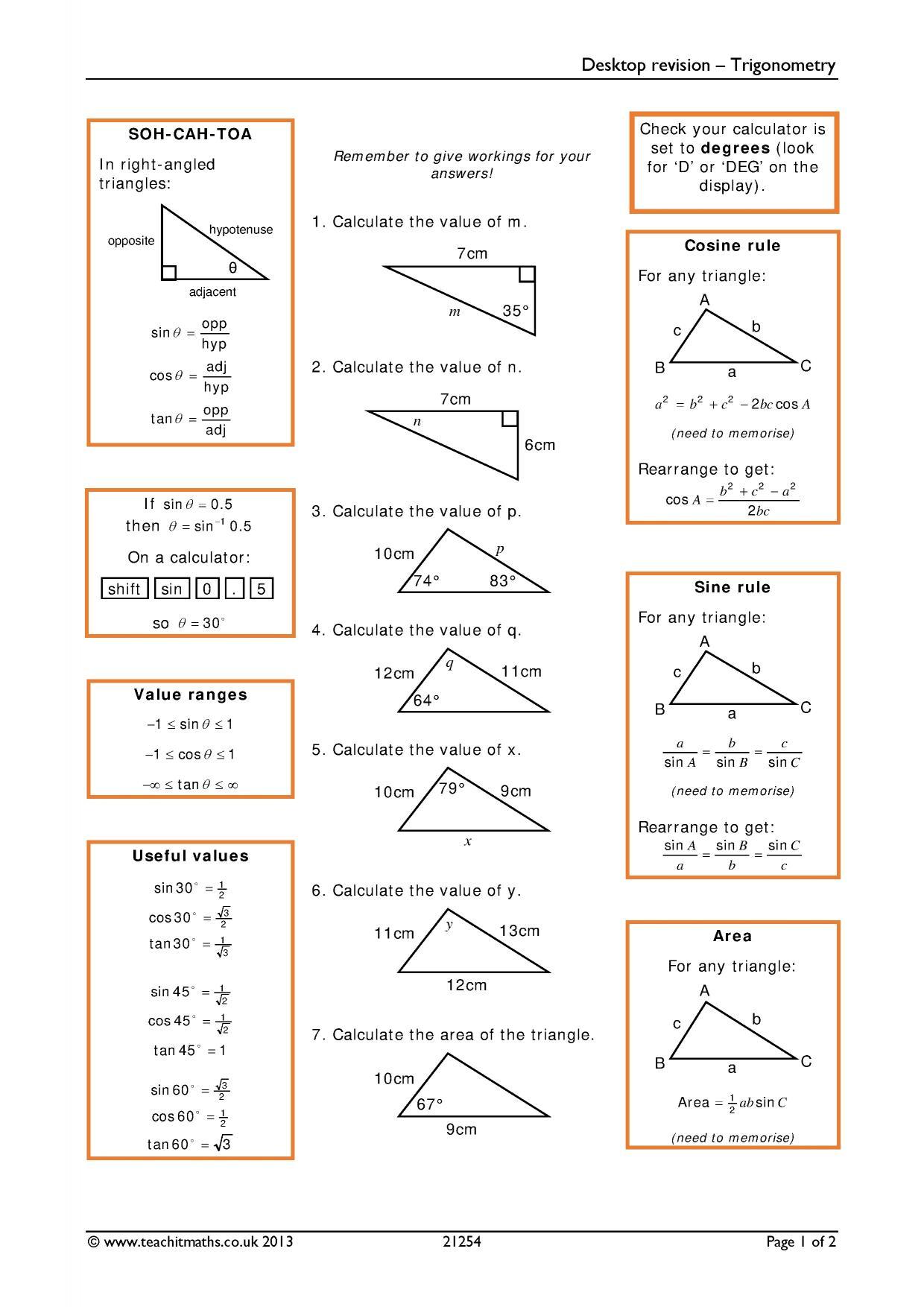 Maths revision teaching resources - Teachit Maths