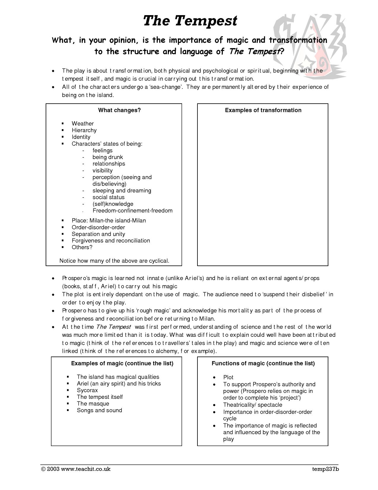 prospero constructs the tempest hierarchy and The tempest study guide contains a biography of william shakespeare, literature essays, a complete e-text, quiz questions, major themes, characters, and a full.
