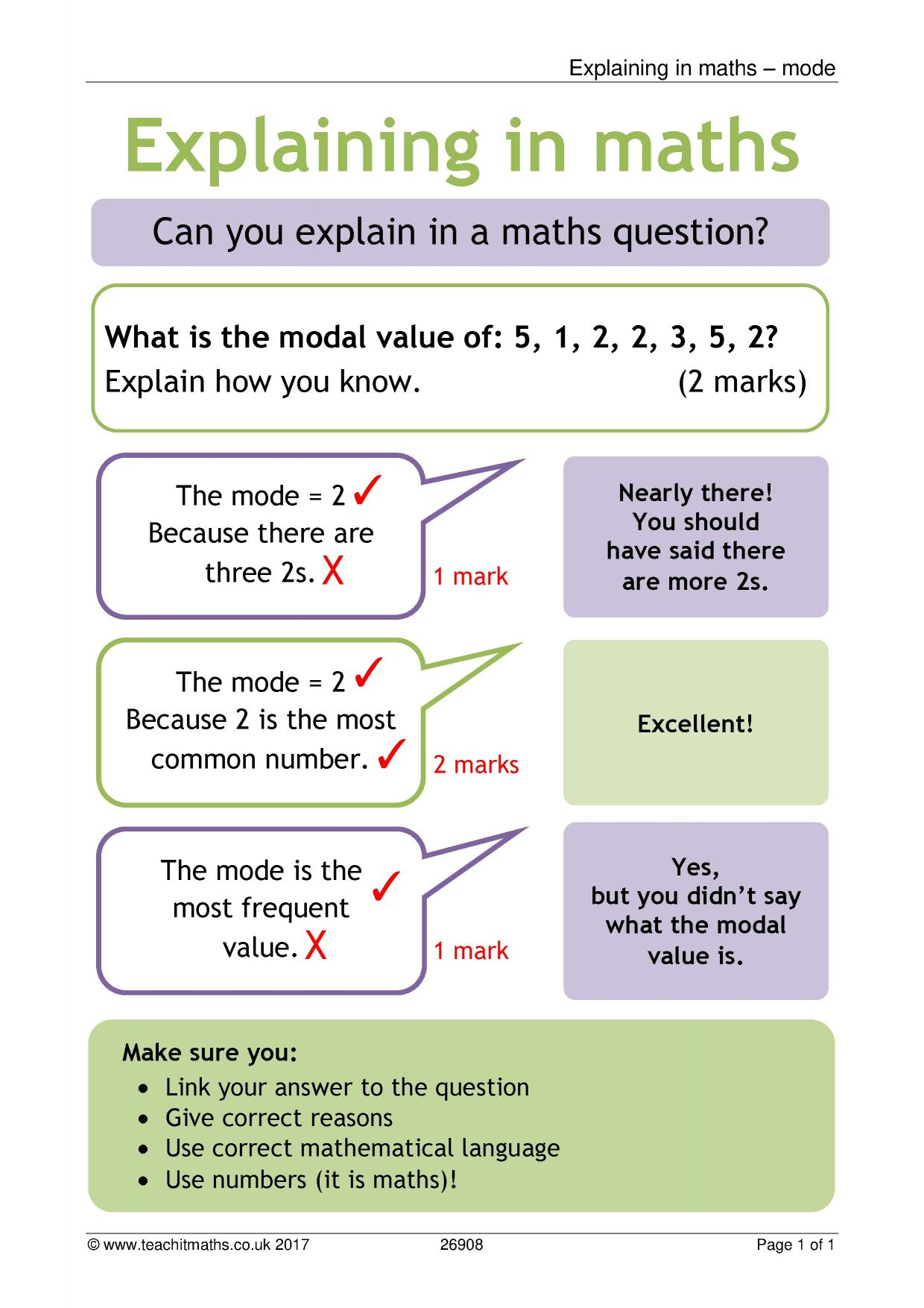 Maths Posters And Displays Teachit Maths
