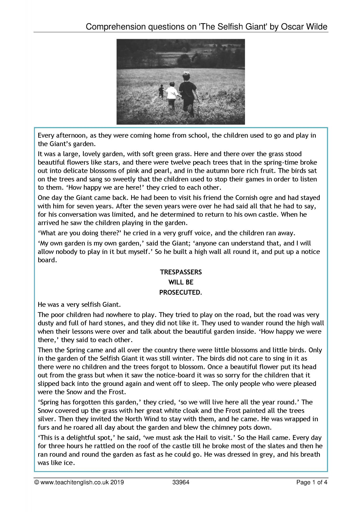 - KS3 Reading Comprehension Teachit English