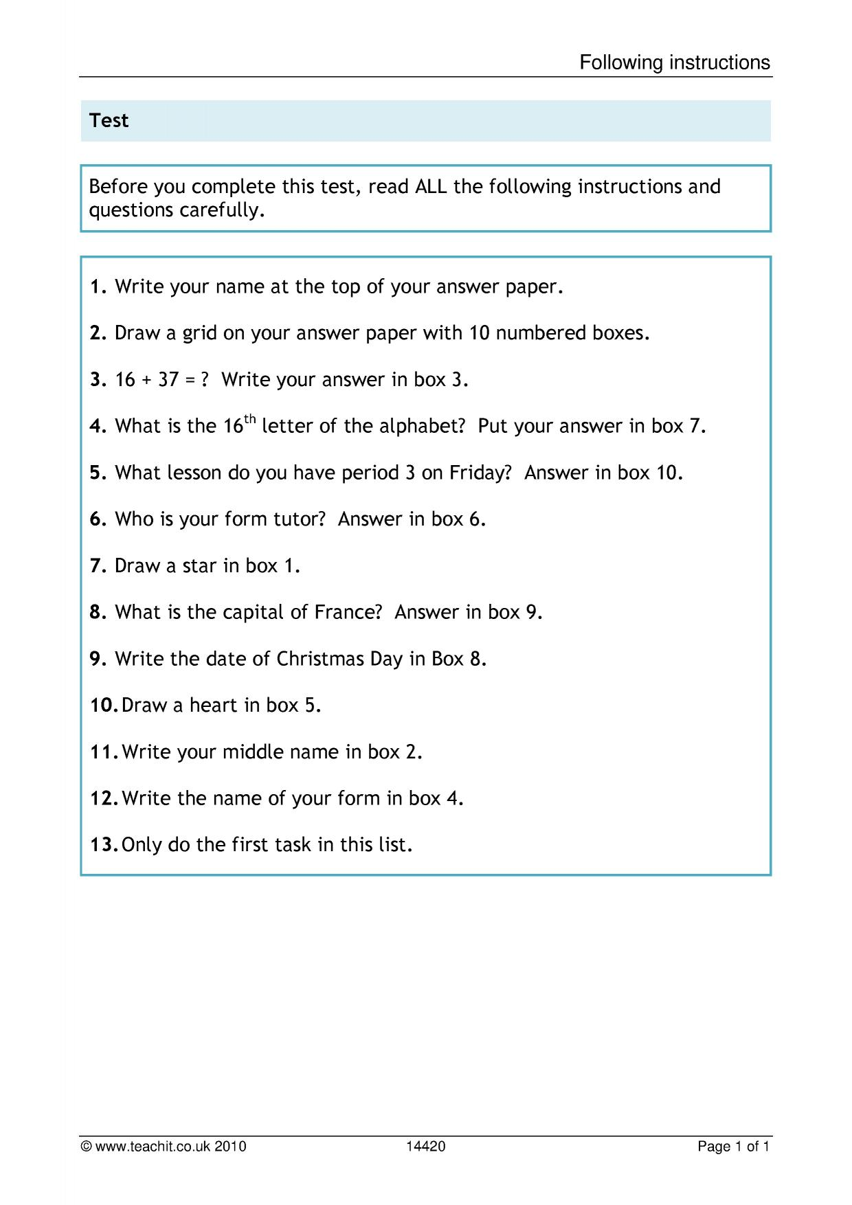 - KS3 Reading Comprehension Teachit English