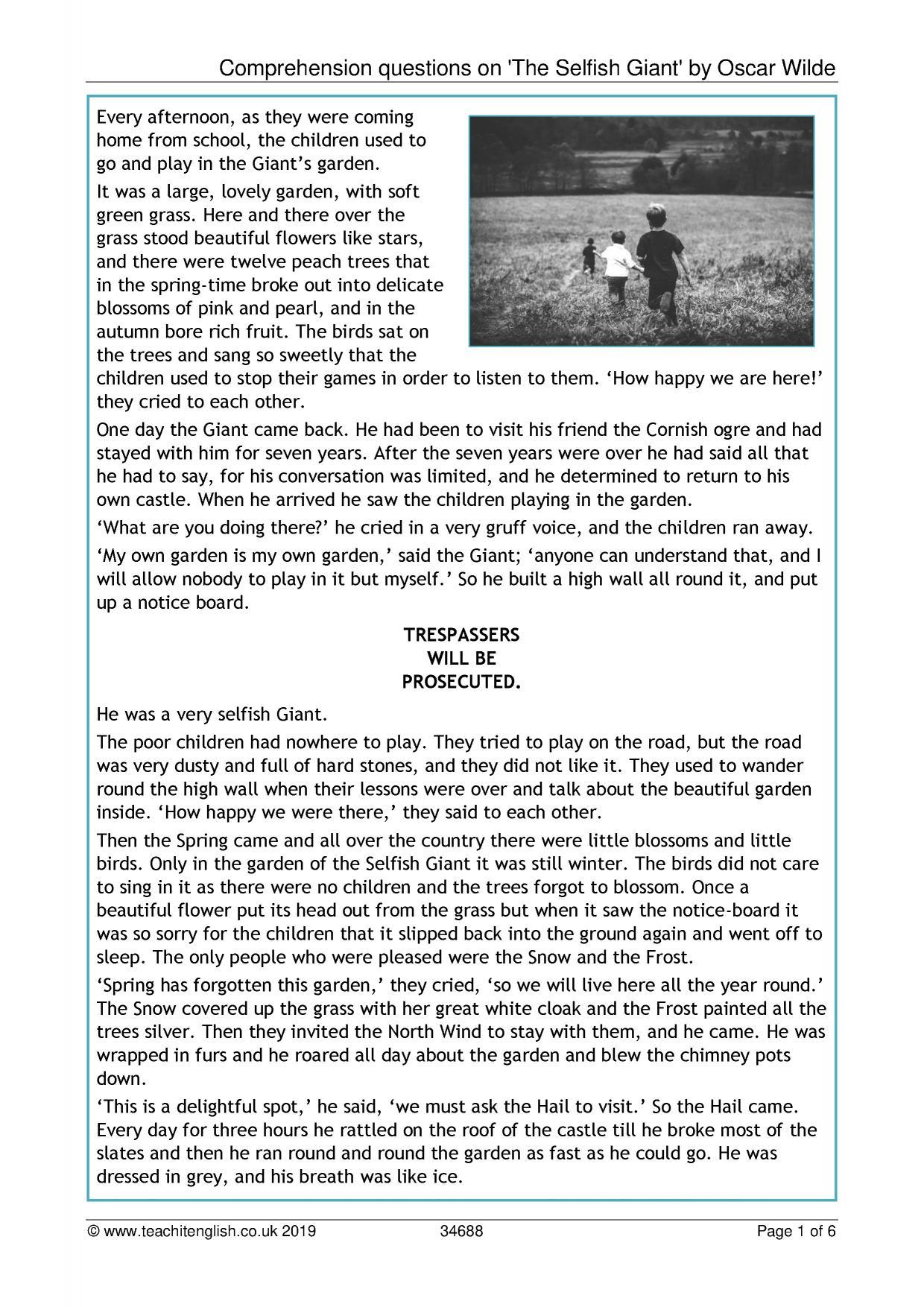 - KS2 Reading Comprehension Resources - Teachit Primary