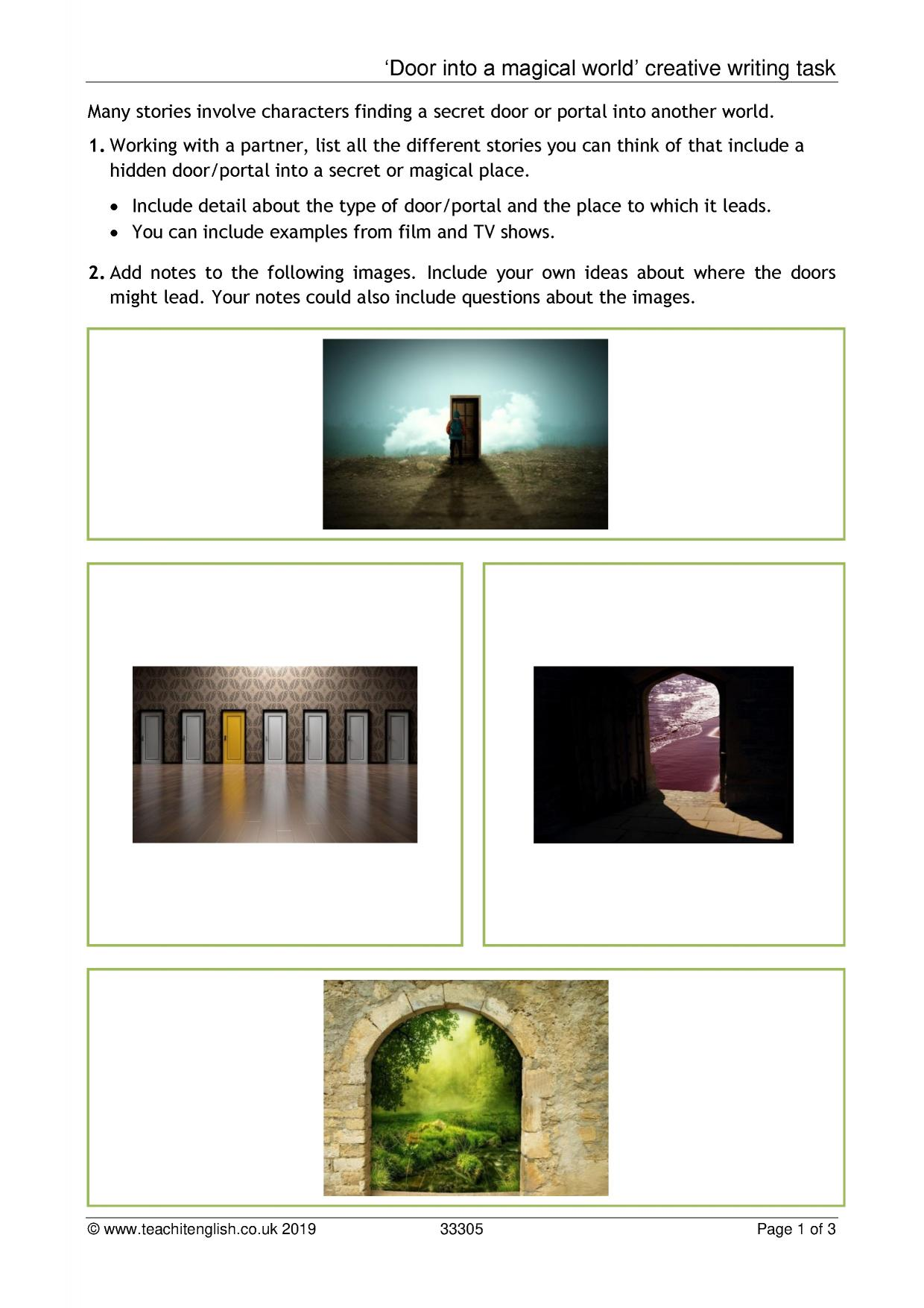 KS3 writing resources for English teachers - Teachit English