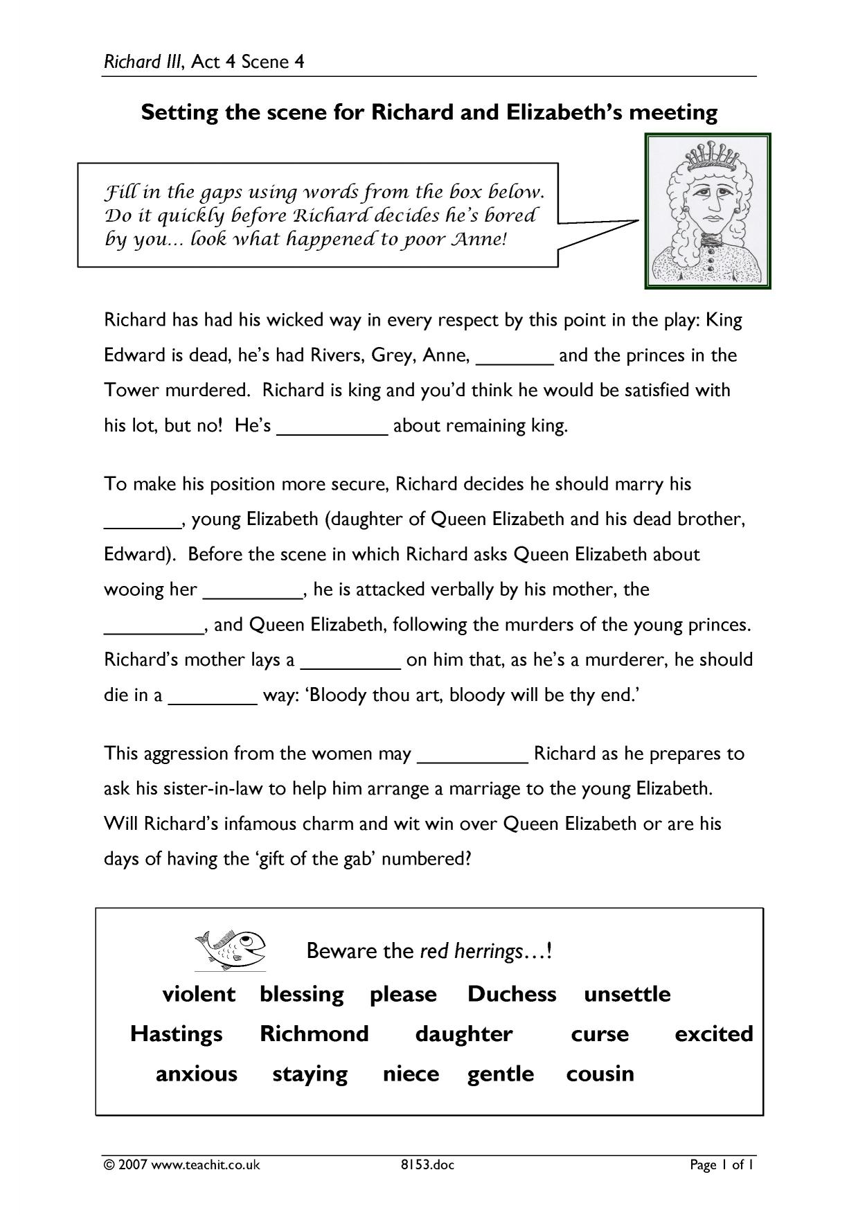 richard iii act 4 ks3 plays key stage 3 resources 0 preview