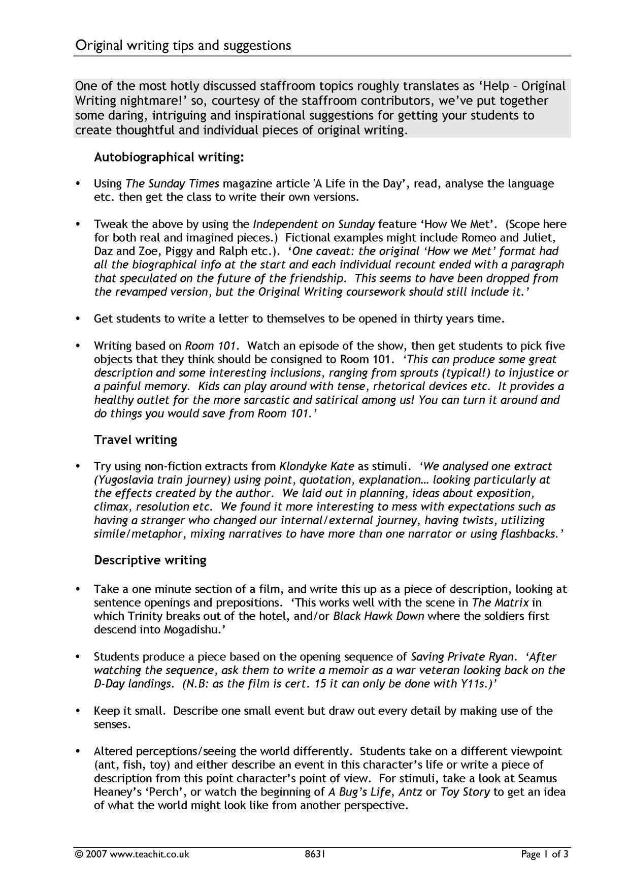 ks creative writing ks teachit english  5 preview ks4 writing
