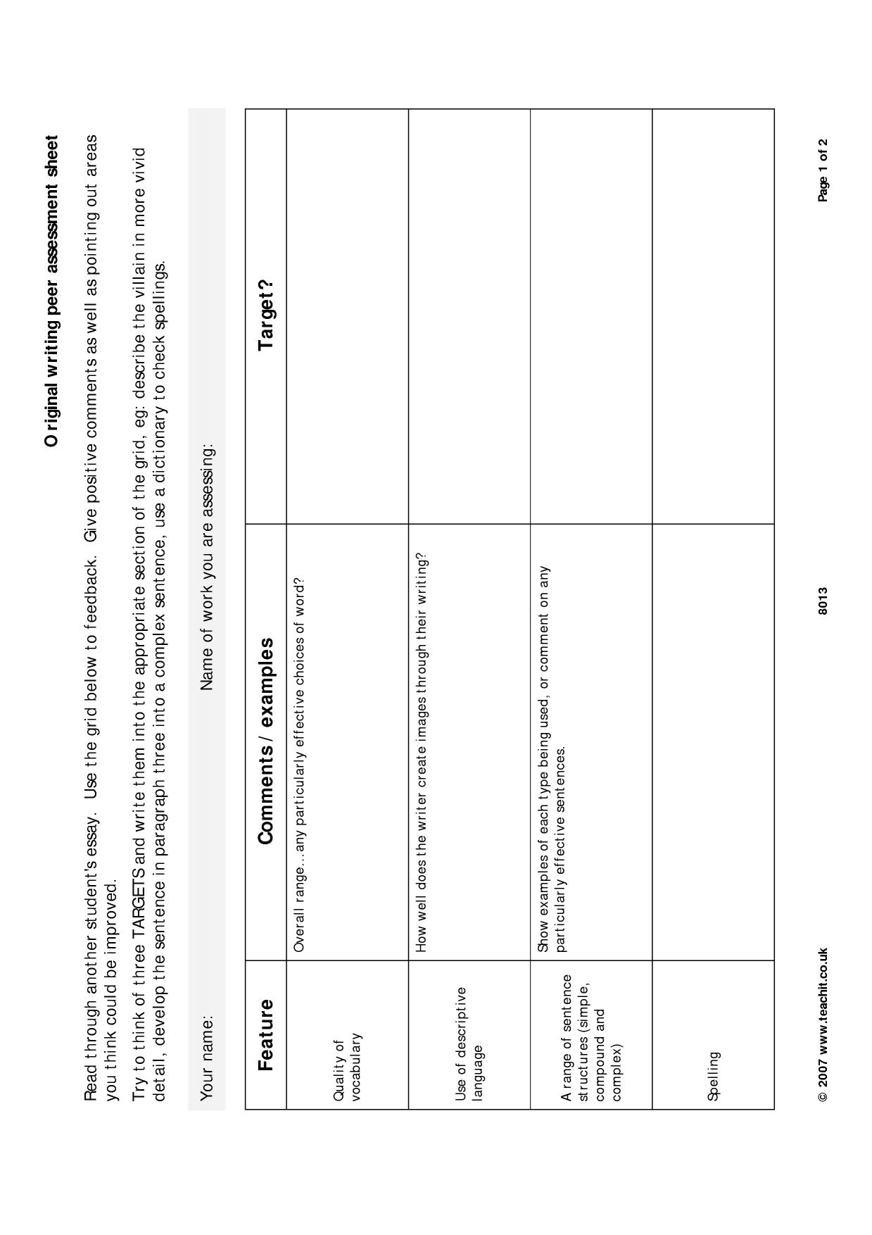 Coursework moderation tools