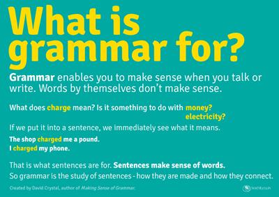 David Crystal's grammar posters for schools - Teachit English