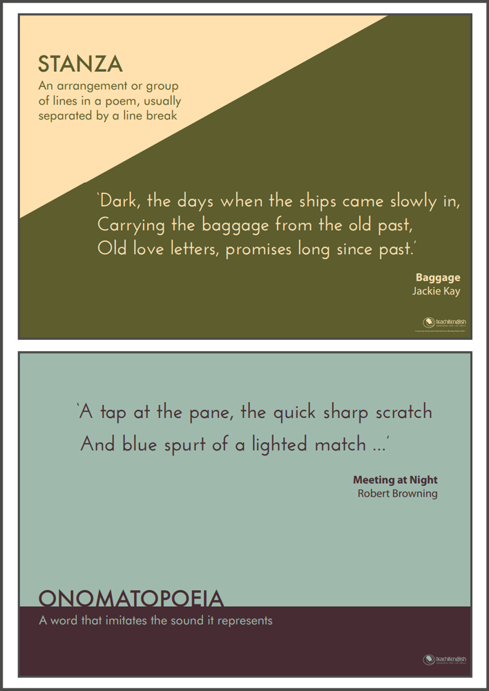 Poetic terms posters